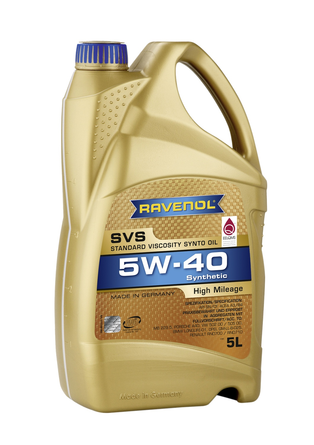 SVS Standard Viscosity Synto Oil 5W-40